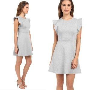 Bcbgeneration Charcoal Grey Flutter Sleeve Dress